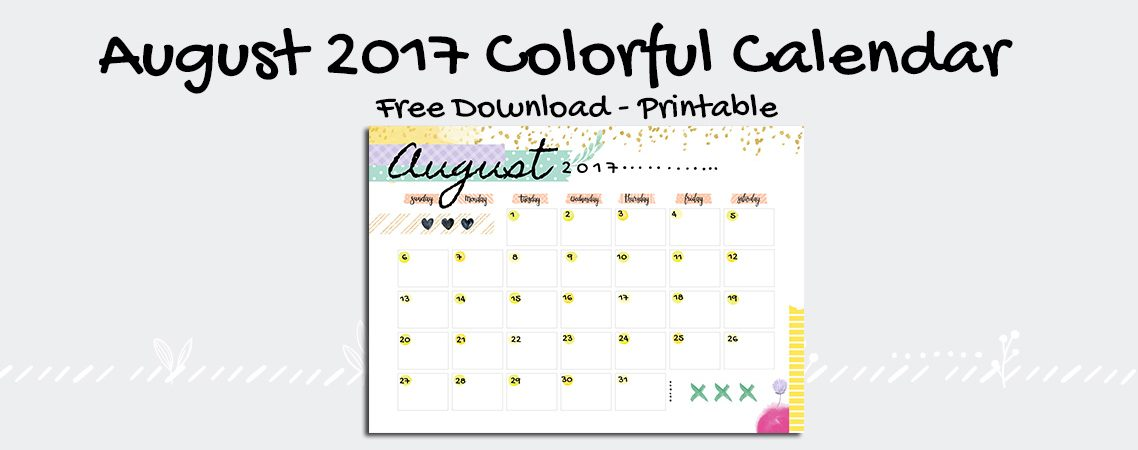 Colorful Calendar – ANAI.COM