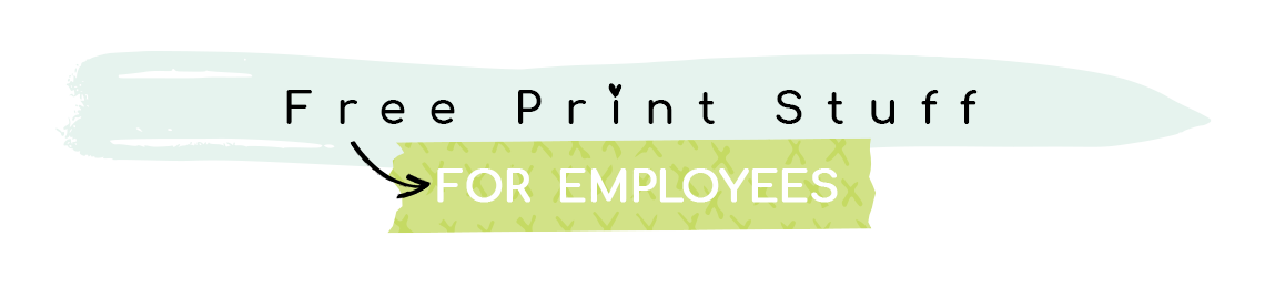 Colorful Services for Employees