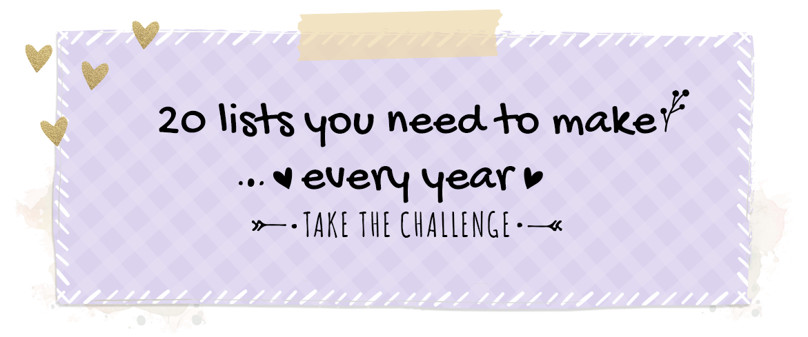 Colorful Challenge - 20 Lists You Need to Make Every Year