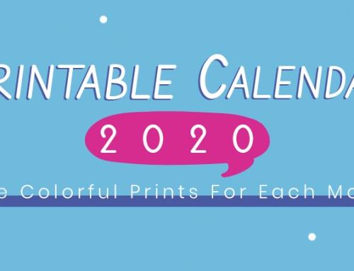 Free Printable Colorful Calendar 2020